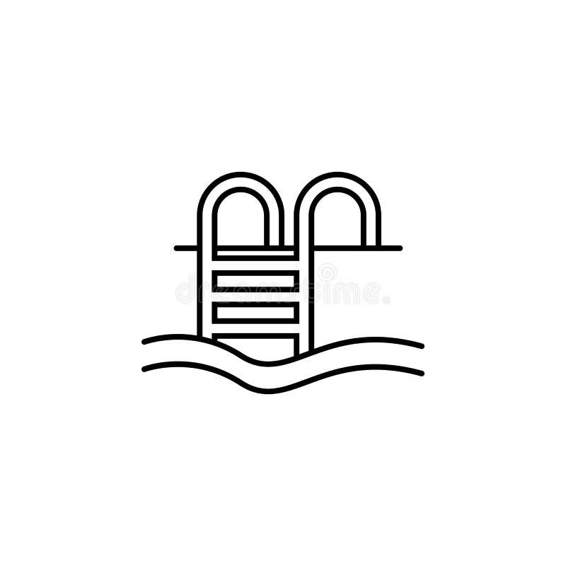 Voyage, courrier, icône d'ensemble de lettre Élément d'illustration de voyage Des signes et l'icône de symboles peuvent être empl illustration libre de droits