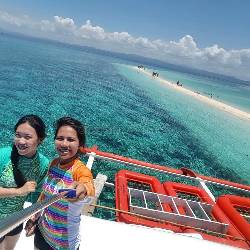 Voyage d'île en île Philippines images libres de droits