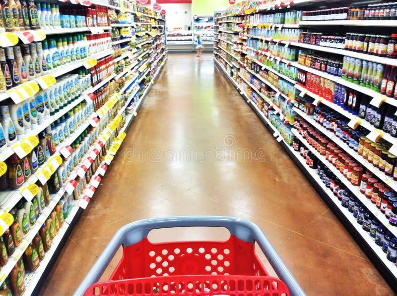 Voyage d'achats d'épicerie image stock
