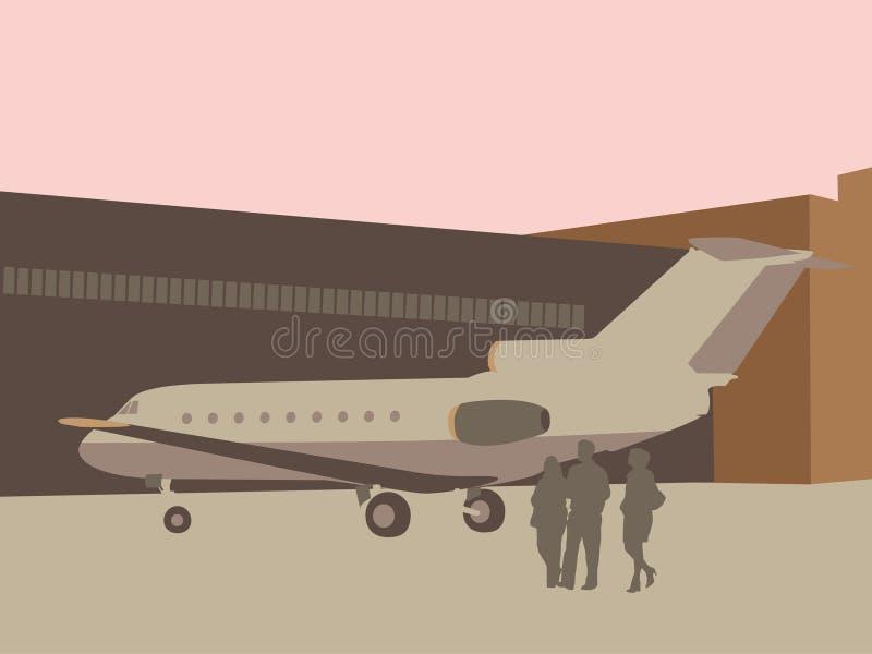 Voyage d'affaires illustration libre de droits