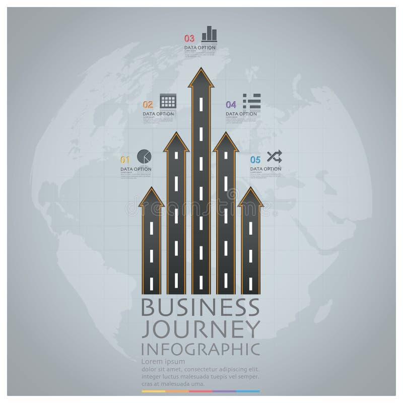 Voyage d'affaires avec la flèche globale Infographic D de route et de rue illustration libre de droits