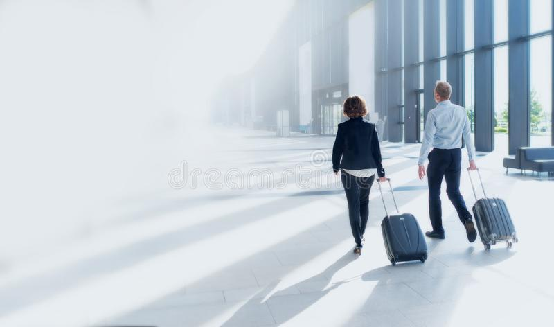 Voyage d'affaires de deux personnes photo stock