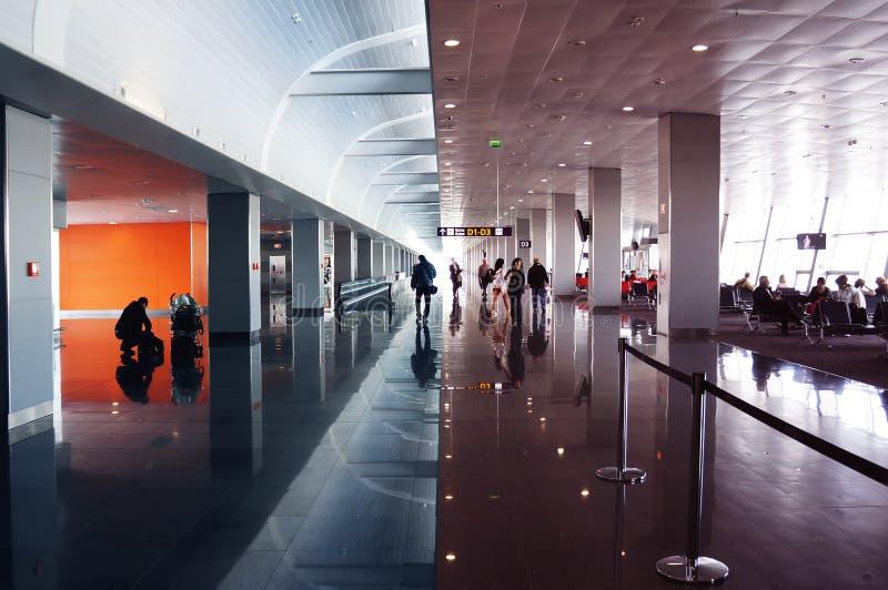 Voyage d'affaires de terminal d'aéroport international image libre de droits