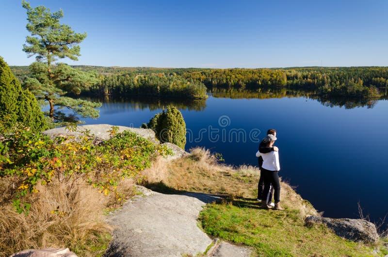 Voyage d'automne images stock