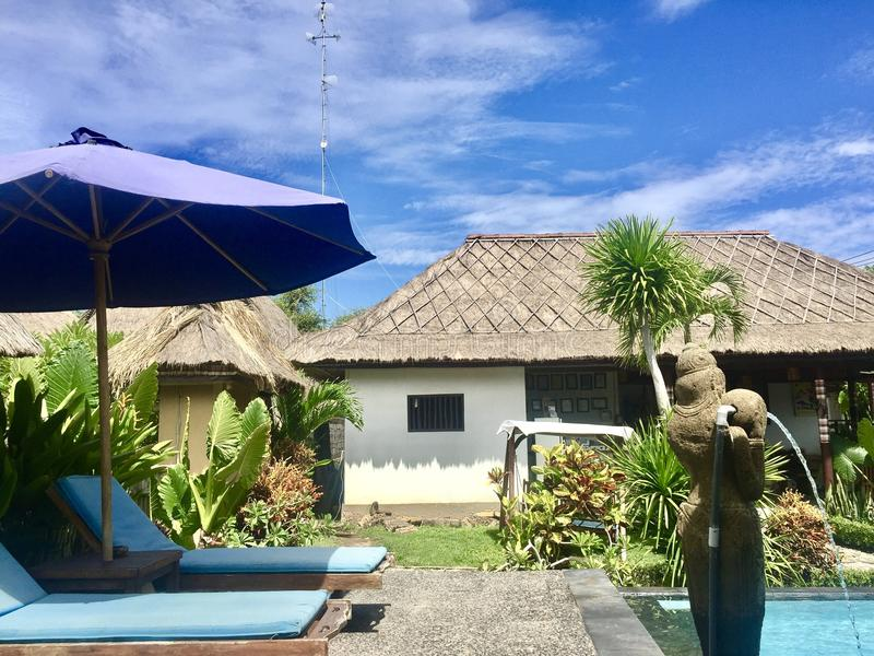 Voyage d'hôtel de Bali photos stock