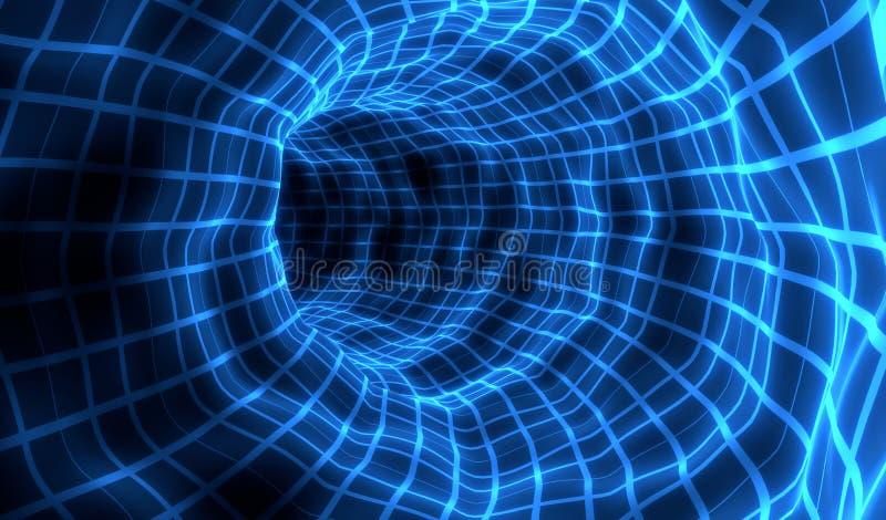 Voyage d'hologramme dans l'espace, illustration 3d photographie stock libre de droits