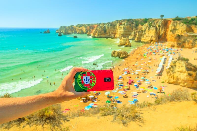 Voyage dans Algarve images libres de droits