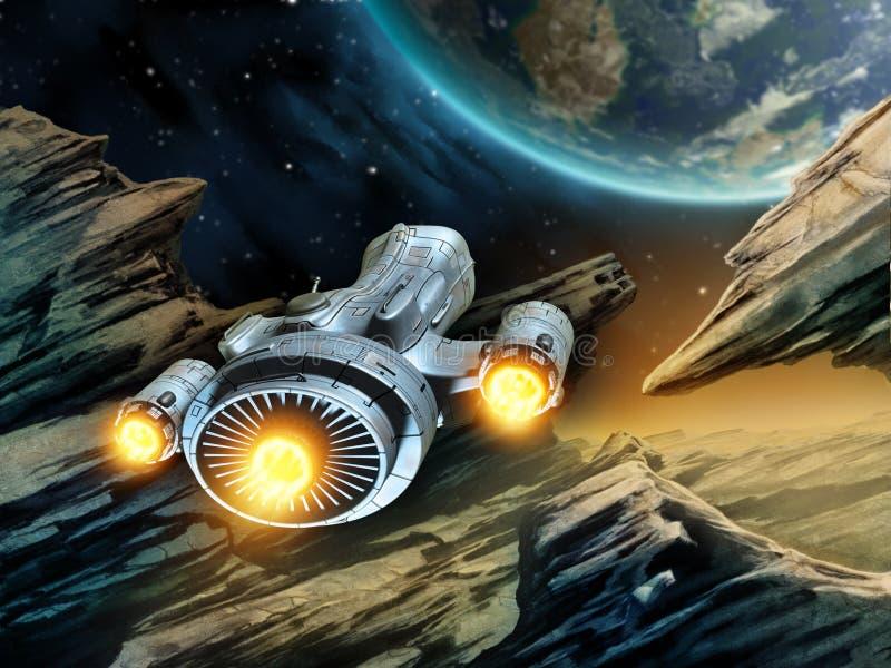 Voyage dans l'espace illustration de vecteur
