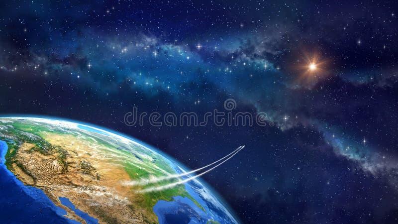 Voyage dans l'espace illustration stock