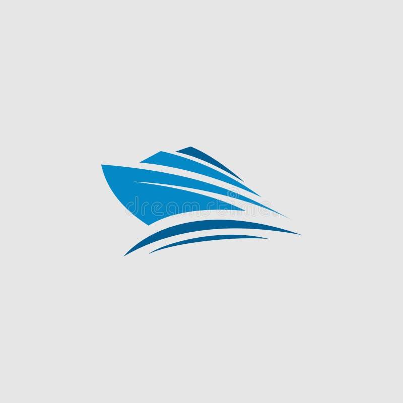Voyage de bateau, île, vecteur de logo de plage illustration de vecteur