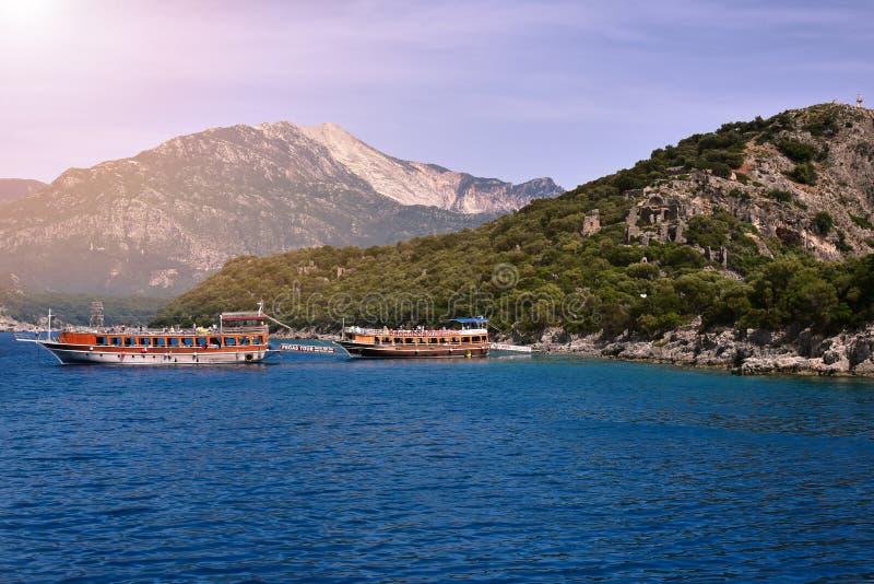 Voyage de bateau d'Alanya photos libres de droits