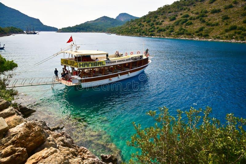 Voyage de bateau d'Alanya photographie stock libre de droits