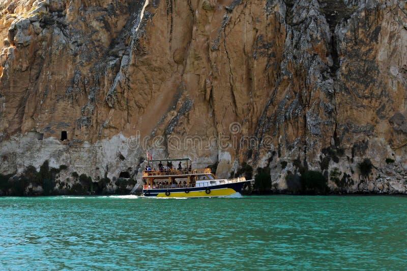 Voyage de bateau dans Halfeti photo stock
