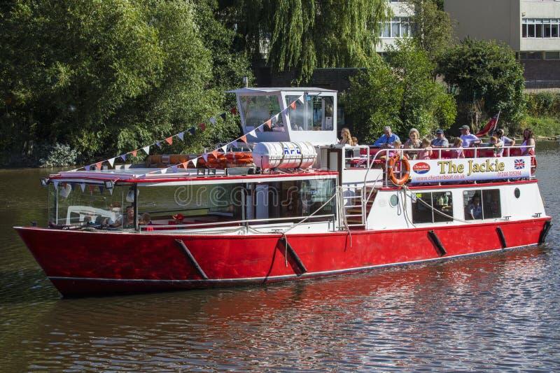Voyage de bateau sur la rivière Dee à Chester photos stock