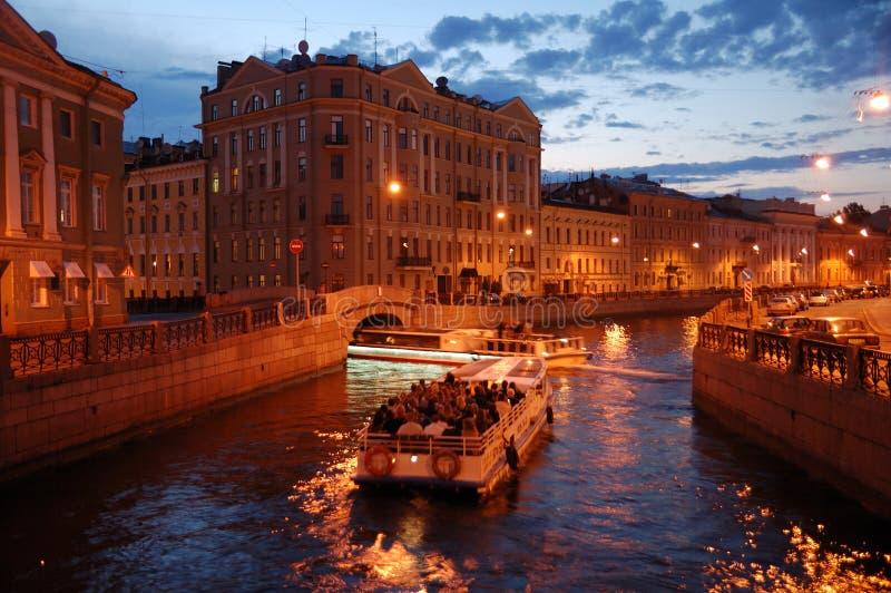 Voyage de canal de Pétersbourg images libres de droits