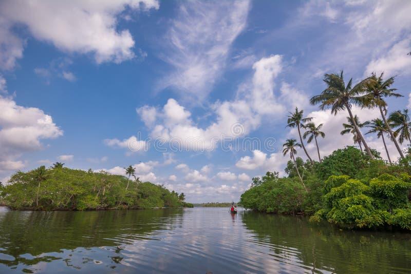 Voyage de cano? par la rivi?re de Kallada, ?le de Munroe images stock