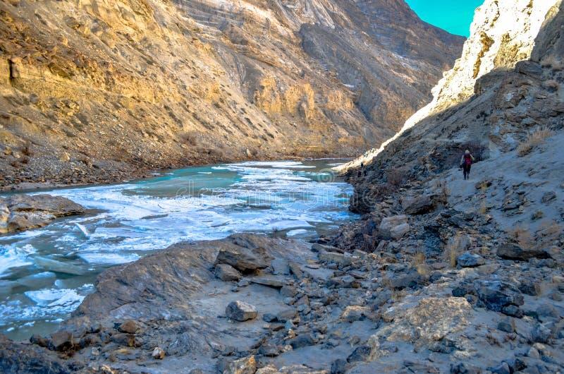 Voyage de Chadar photo libre de droits