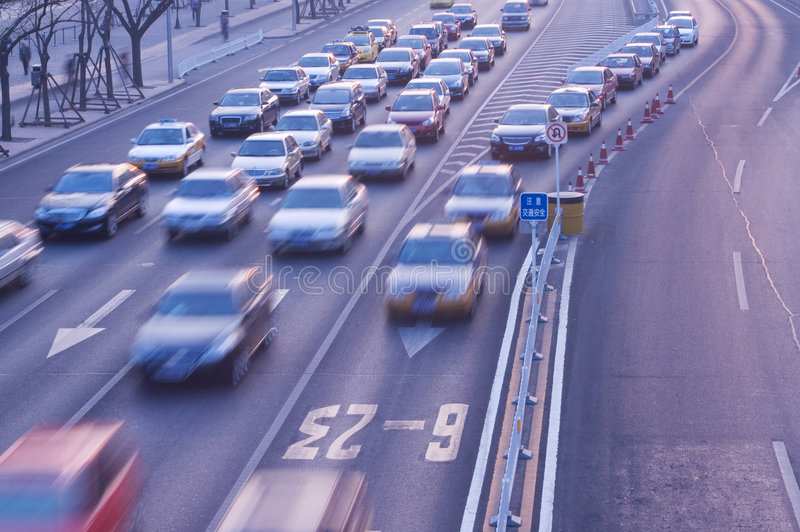 voyage de circulation d'automobiles photo libre de droits