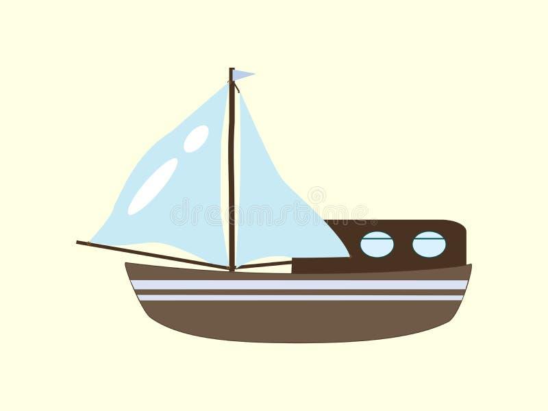 Voyage de croisière de yacht de voilier illustration libre de droits