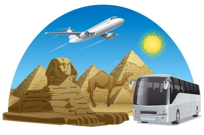 Voyage de voyage en Egypte illustration libre de droits