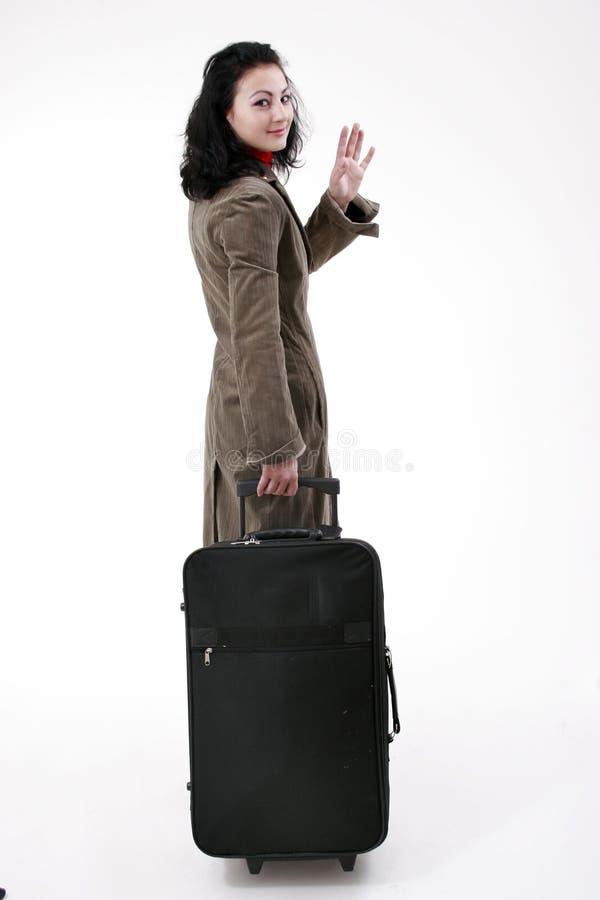 Voyage de femme d'affaires image libre de droits