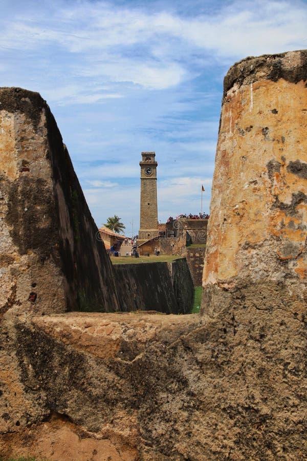 Voyage de Galle de voyage de vacances du Sri Lanka de château photographie stock
