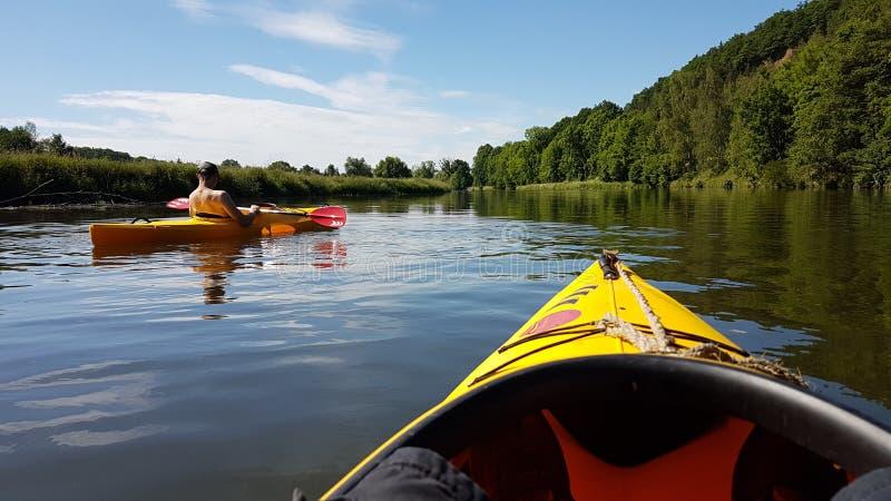 Voyage de kayak images stock