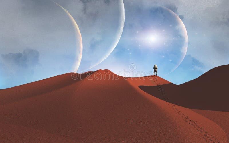 Voyage de l'espace illustration stock