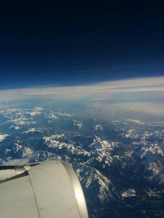 Voyage de l'Europe Alitalia de vol images stock