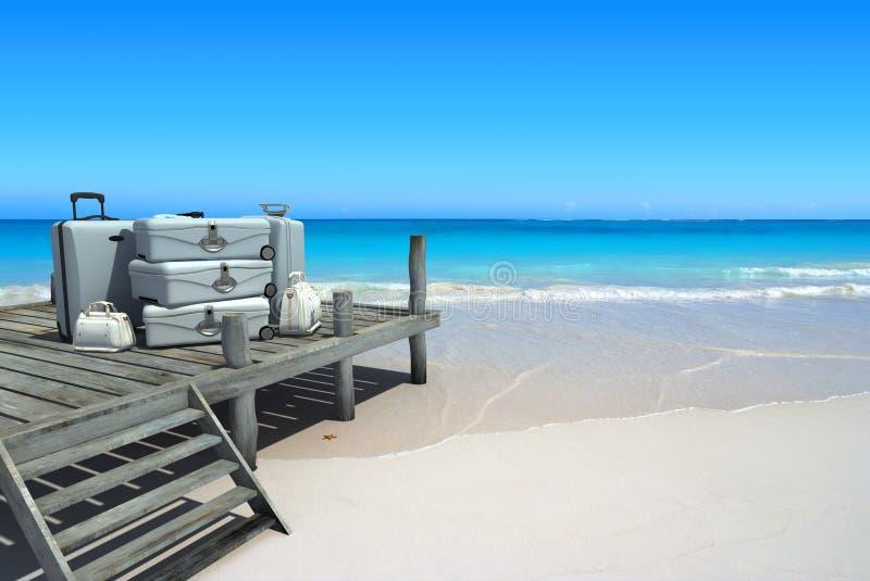 Voyage de luxe de plage images stock