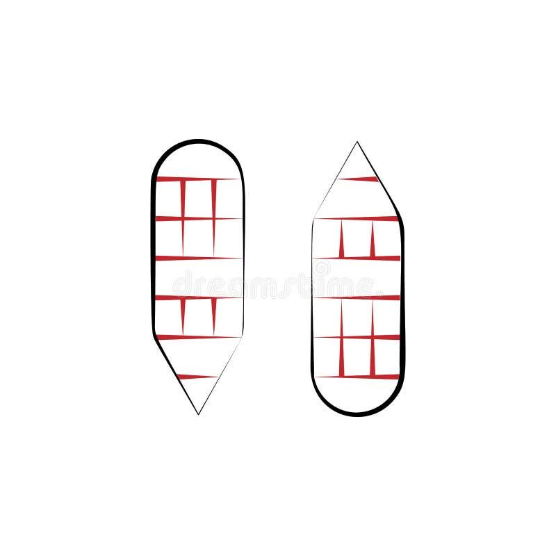 Voyage de nouvelle année, discrimination raciale icône des raquettes 2 Illustration tirée par la main simple d'élément de couleur illustration de vecteur