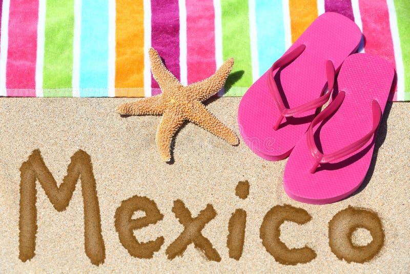 Voyage de plage du Mexique photo libre de droits