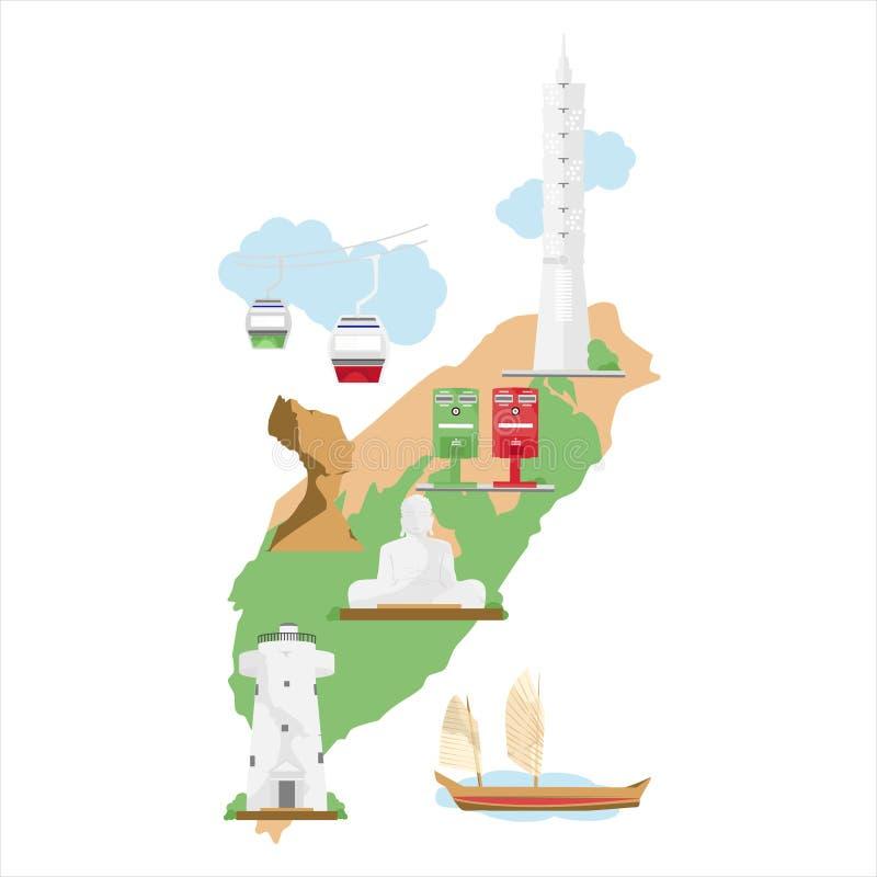 Voyage de Taïwan illustration stock