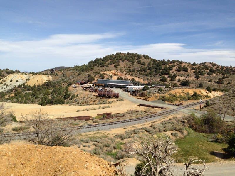 Voyage de tache de touristes de Virginia City Nevada photos libres de droits