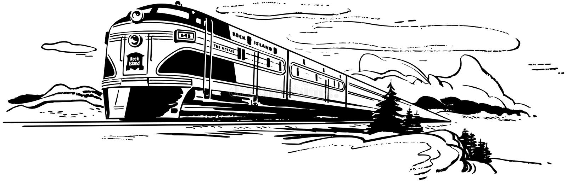 Voyage de train illustration de vecteur