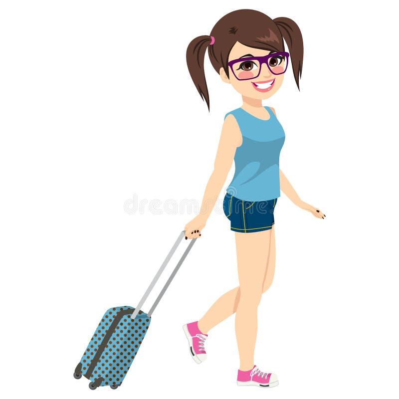 Voyage de vacances de fille illustration de vecteur