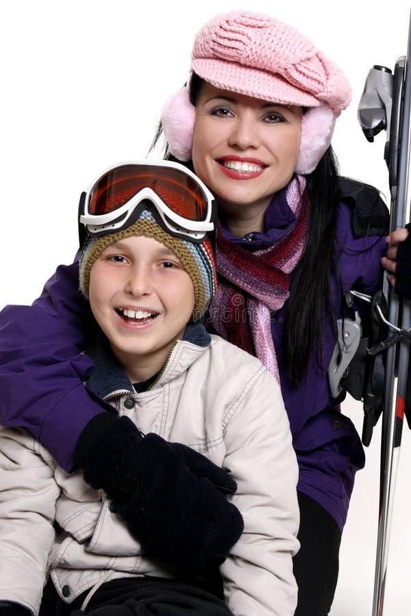 Voyage de vacances de l'hiver images stock