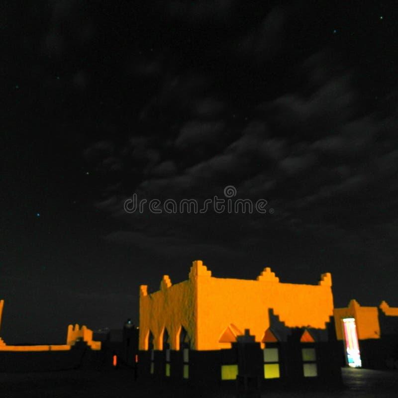 Voyage de visite de nuit du Maroc images stock
