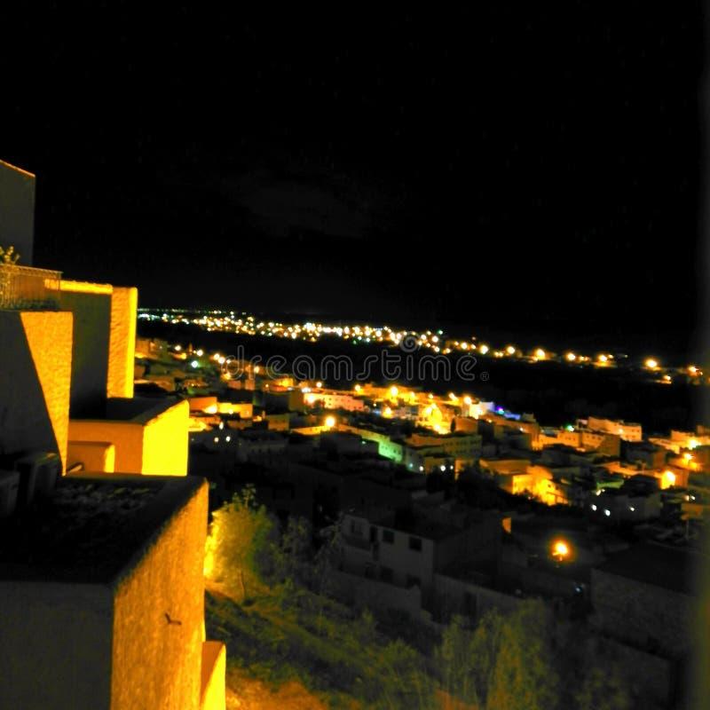 Voyage de visite de nuit du Maroc photos libres de droits