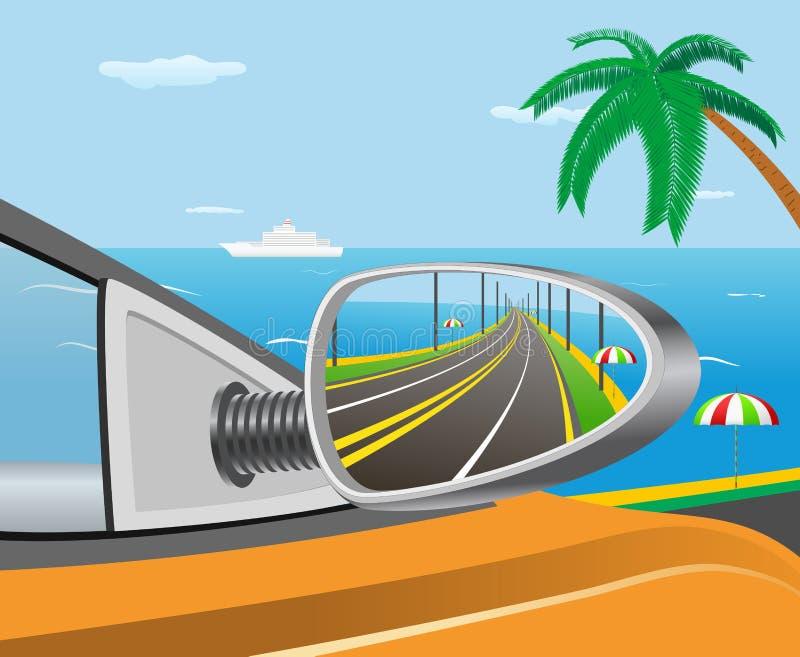 Voyage de voiture. illustration stock