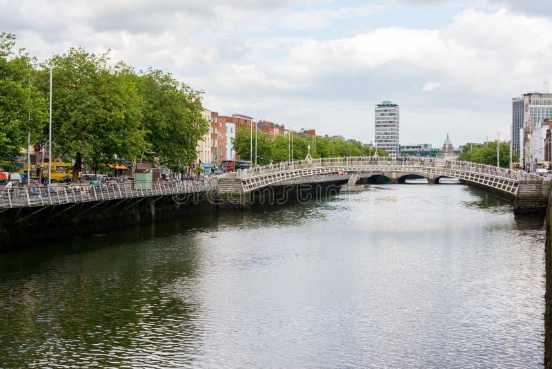 Voyage en Irlande Dublin, pont de demi-penny images stock