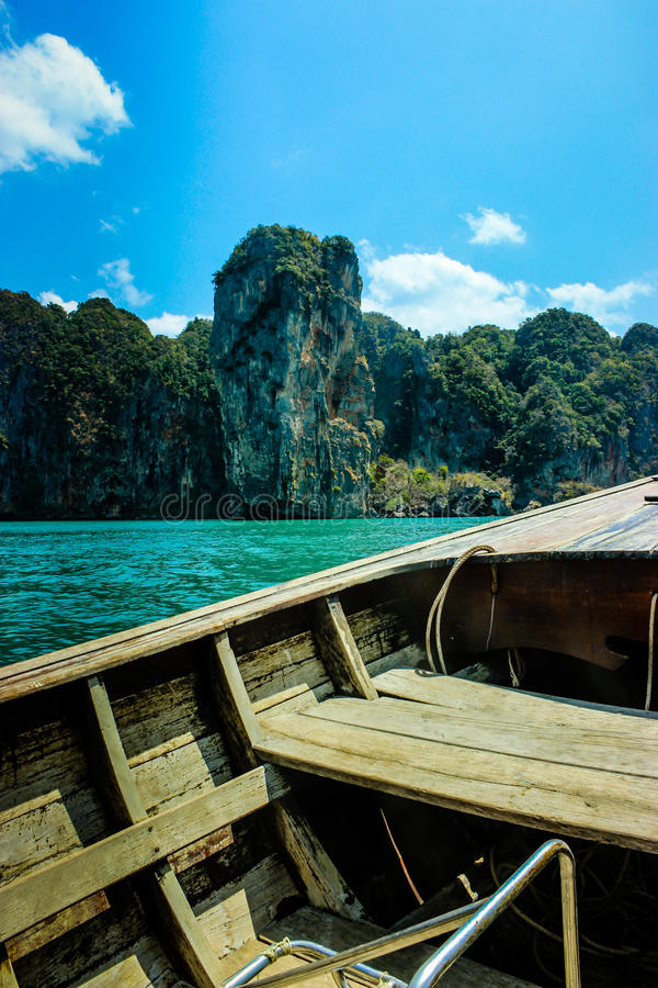 Voyage en mer en Thaïlande images libres de droits