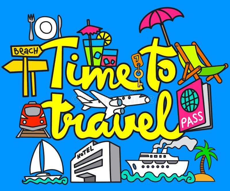 Voyage et voyage illustration stock