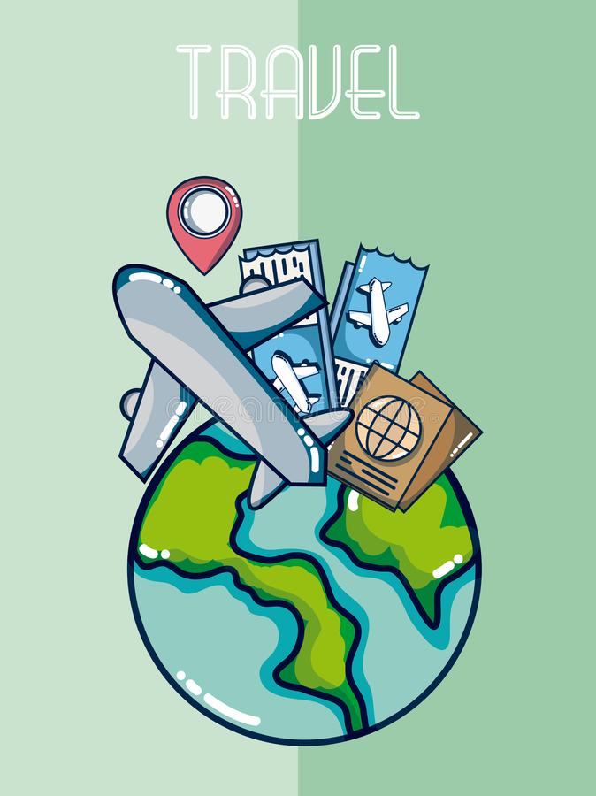 Voyage et vacances illustration de vecteur