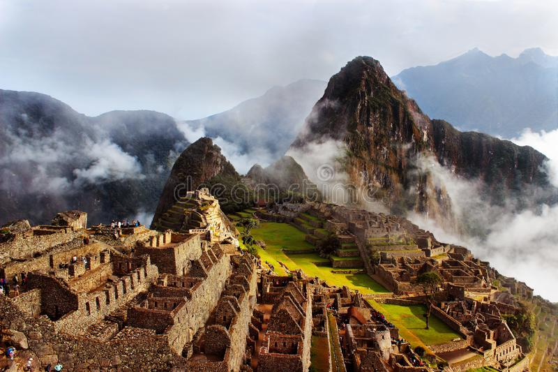 Voyage incroyable à Machu Picchu photo stock
