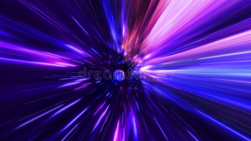 Voyage interstellaire, de temps et saut hyper dans l'espace illustration libre de droits