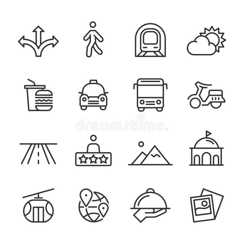 Voyage - ligne ensemble d'icônes illustration de vecteur