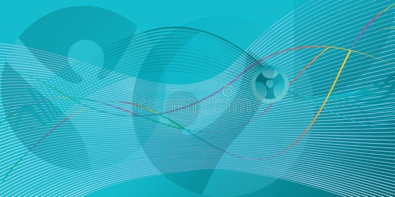 Voyage liquide abstrait d'?t? de fond de couleur illustration libre de droits