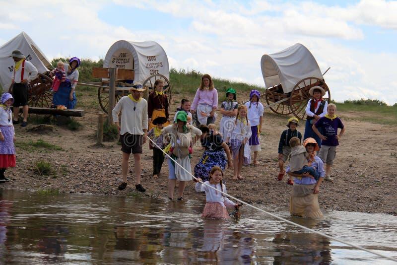 Voyage mormon : Croisement du Sweetwater images libres de droits