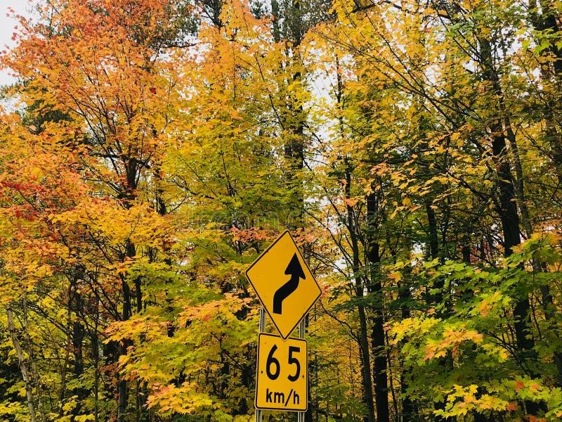 Voyage par la route à Mont-Tremblant 1 image libre de droits